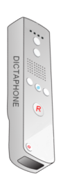 Image of a dictaphone