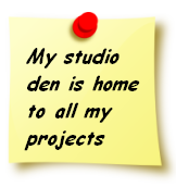 My studio den is home to all my projects