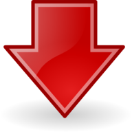 Image of a red arrow pointing down.