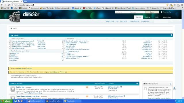 A screenshot of the Digital Director website