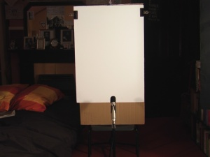A picture of my white core board used for setting white balance