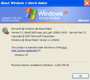 A screenshot from Windows Movie Maker 2.1 (Windows XP)