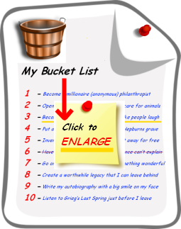 "An image of my ""Bucket List"" with ""Click to ENLARGE"" written on it."