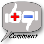 Image of a comment box with thumbs up and thumbs down in it.