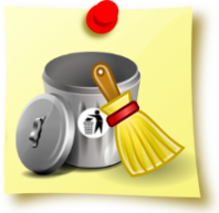an image of a litter bin and brush