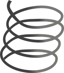 An image of a coiled cartoon spring