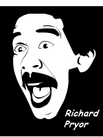 Cartoon picture of Richard Pryor