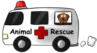Image of an animal rescue ambulance